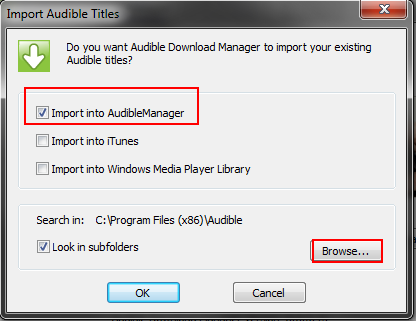 I am trying to set up Audible Manager but when I downloaded it my