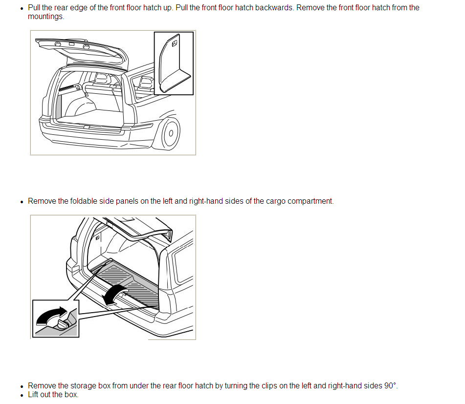 how do i remove the large interior trim panel in the cargo area of