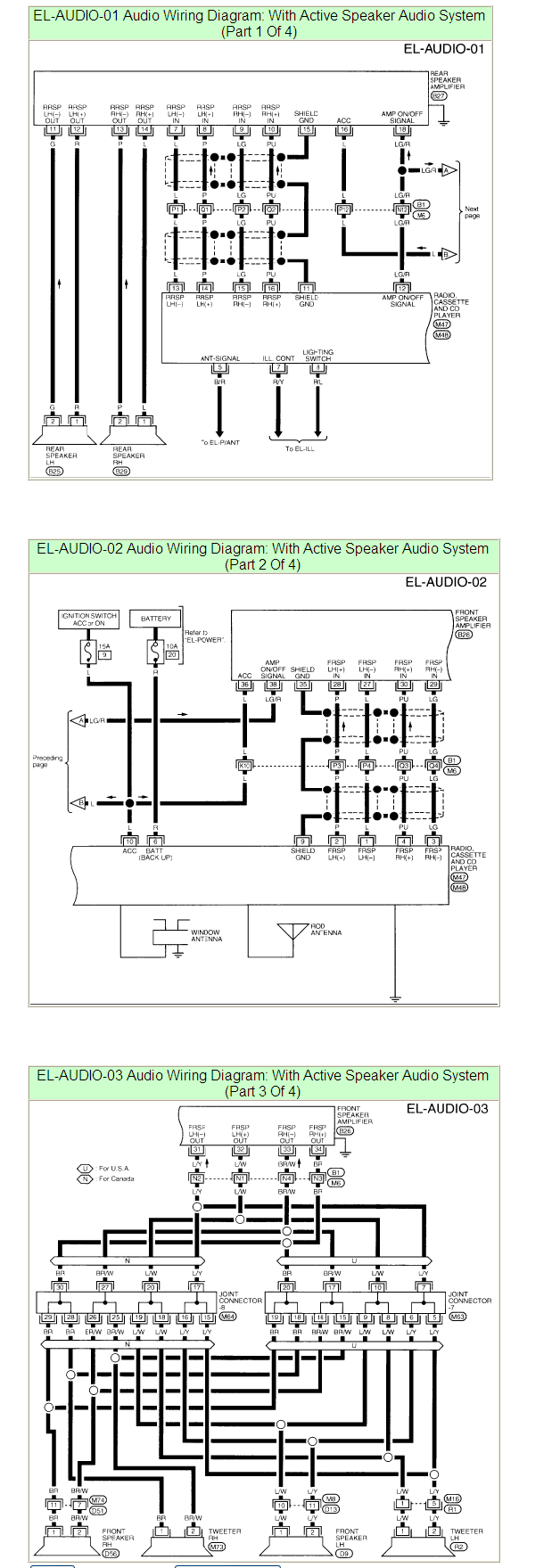 What Are The Color Codes For The 1997 Altima Gxe U0026 39 S Stereo Wiring