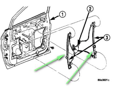 i am replacing the power window motor regulator in the passengerInstall Replace Power Window Regulator And Motor 200103 Dodge Caravan #21