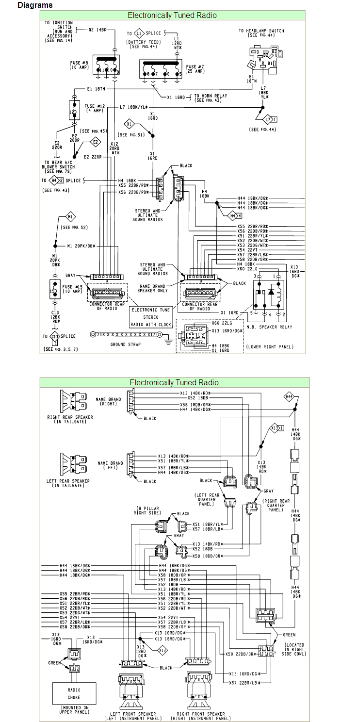 How can I get a wiring diagram of the speakers on a Chrysler