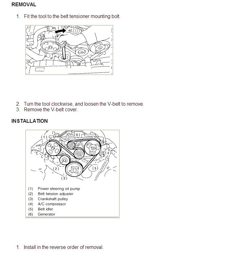 Need A Belt Diagram For A 2001 Subaru Outback 3 0  Vdc Model