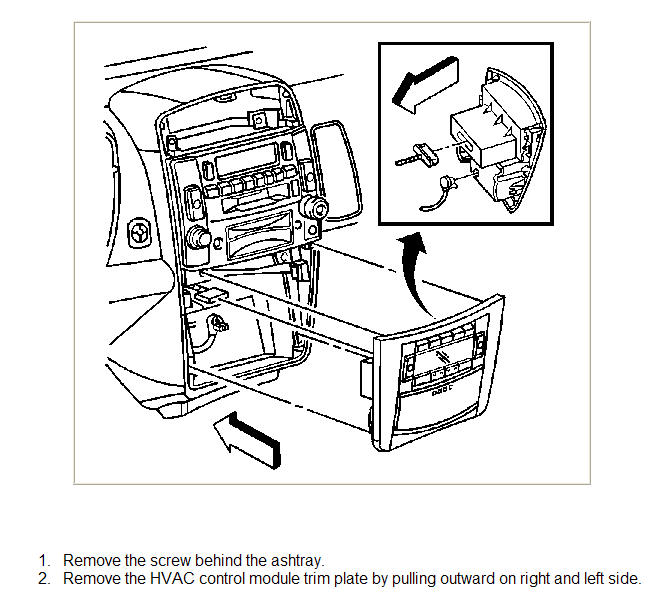 How Do I Remove A Cd Player In A 2005 Cadillac Cts Sedan