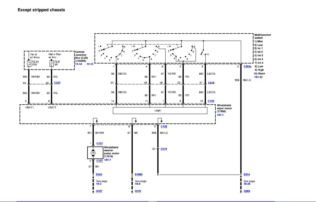1995 Ford Van Wiper Wiring Diagram