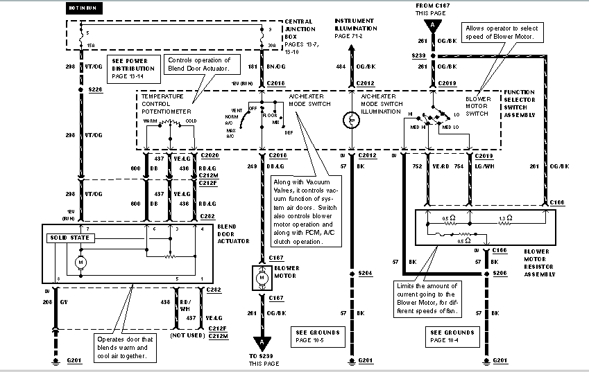 wiring diagram for 2003 grand marquis i have a 1999 grand marquis that the heat is always. the ... wiring diagram for 2003 mercury marquis eatc #1