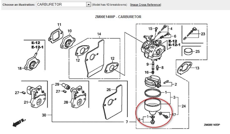 i have a honda 160cc 21 lawn mower that is relativity new i rh justanswer com Honda Pressure Washer Carburetor Diagram Honda Pressure Washer Carburetor Diagram