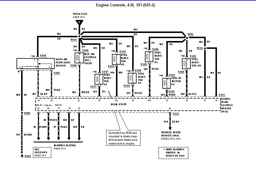 2004 ford explorer fuel injector wiring diagram