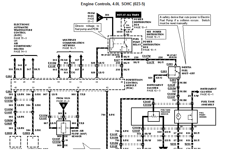Where Is The Fuel Pump Relay On A 1998 Ford Explorer. Ford. 2001 Ford Explorer Fuel Pump Relay Diagram At Scoala.co