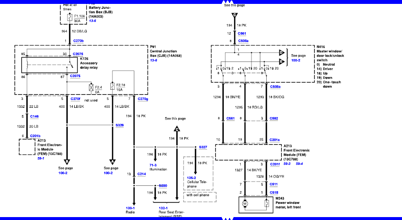 Ford Windstar Relay Diagram