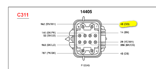 the wiring harness for the tow package does not have the