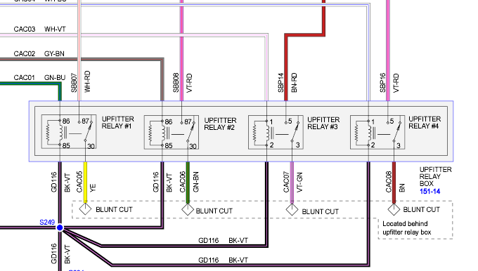 Location Of Upfitter Switch Wiring On A 2018 F350