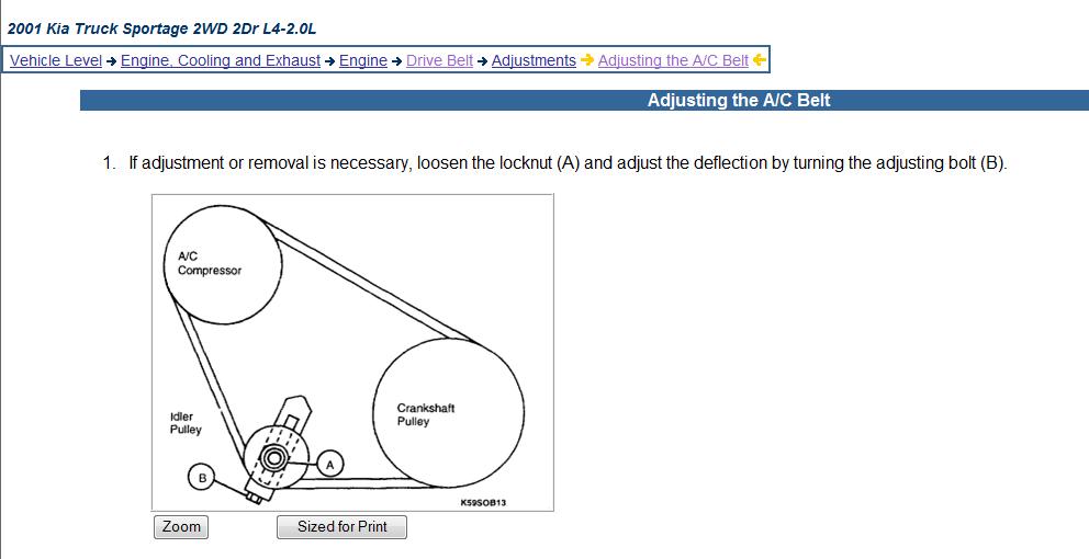 I Need A Diagram For The 2001 Kia Sportage Base