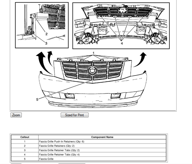 I am trying to remove the front grille from a 2009 cadillac escalade thanks for coming to just answer and allowing me to help you freerunsca Images