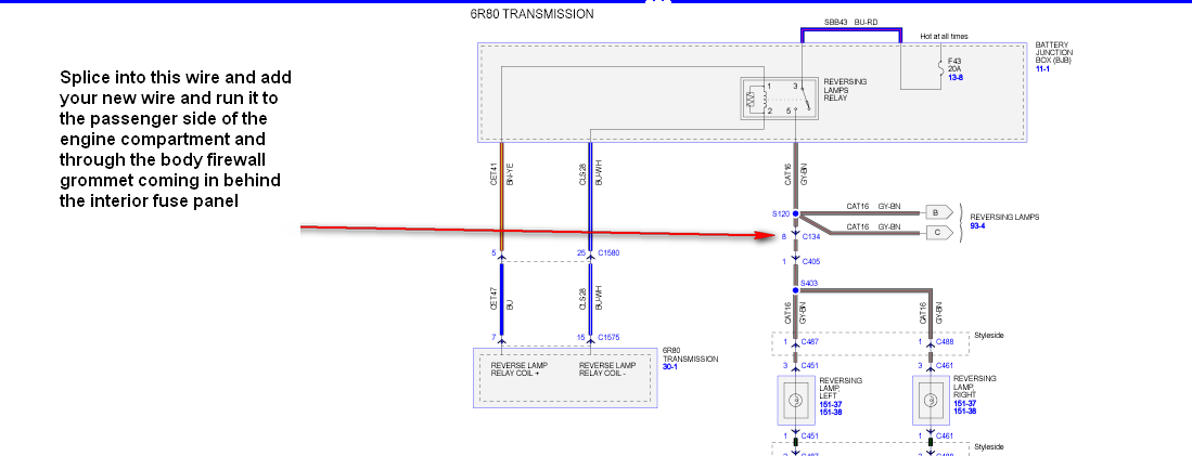Can I Have The Wiring Diagram For The Cargo And Back