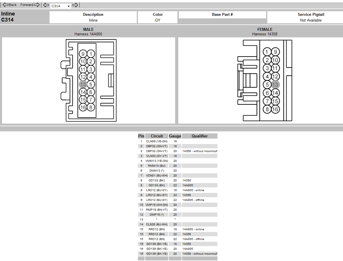 2011 Ford F150  Wiring  Power Window Switches  Door Lock