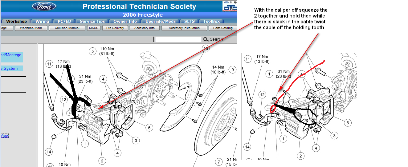 Ford Freestyle Caliper Diagram Electrical Wiring Diagrams