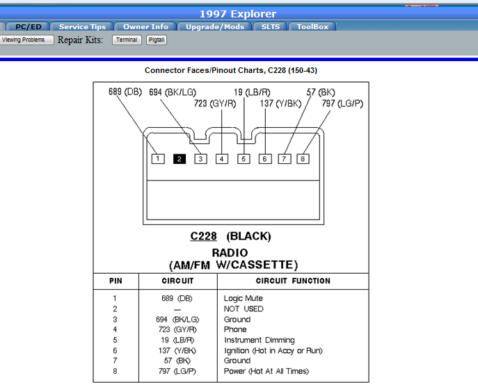 2011 10 18_001711_2 factory radio question 1997 mountaineer, premium sound(amp @ rear 2003 mercury sable radio wiring diagram at bayanpartner.co