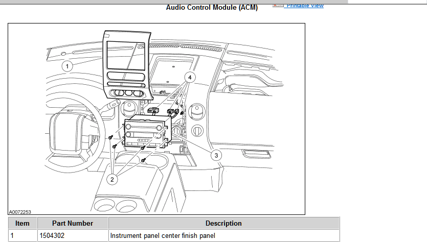 The Acm Audio Control Module Is Your Radio You Need To Pop Off Trim Panel Around Gently Using A Dull Kitchen Knife See Below