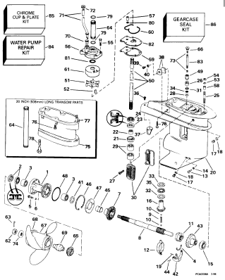 how to remove lower unit on 1998 25hp evinrude