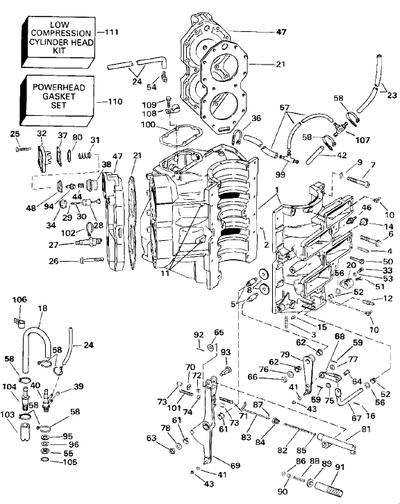 The Illustration Below Is A Omc Carburetor From 1974 Early 1987