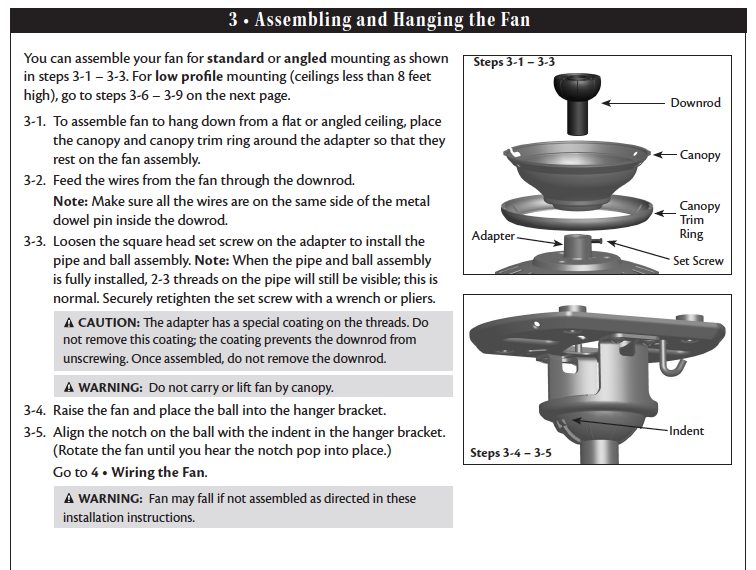 ceiling fan with light wiring diagram two switches we just bought a hampton bay larson ceiling fan sku 337 #8