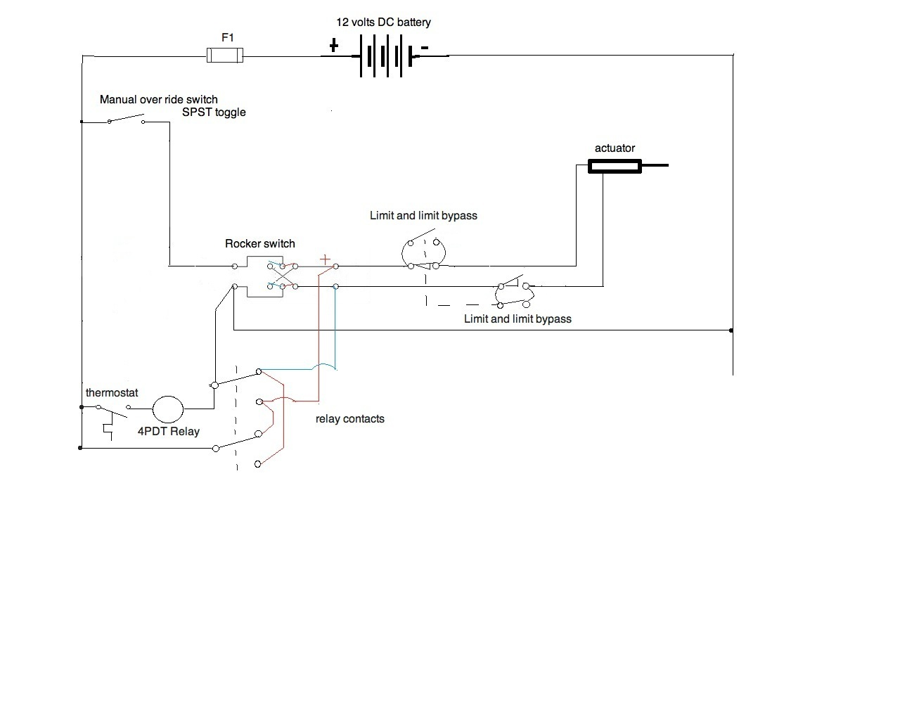 i need a wiring diagram for a 12v application. all components are ... motor limit switch wiring diagram 12v olt  justanswer