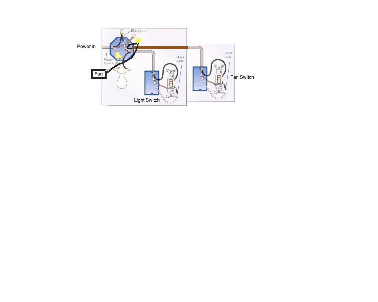 Two Light Bathroom Fan Switch Wiring Diagram Library Heater Combo Graphic