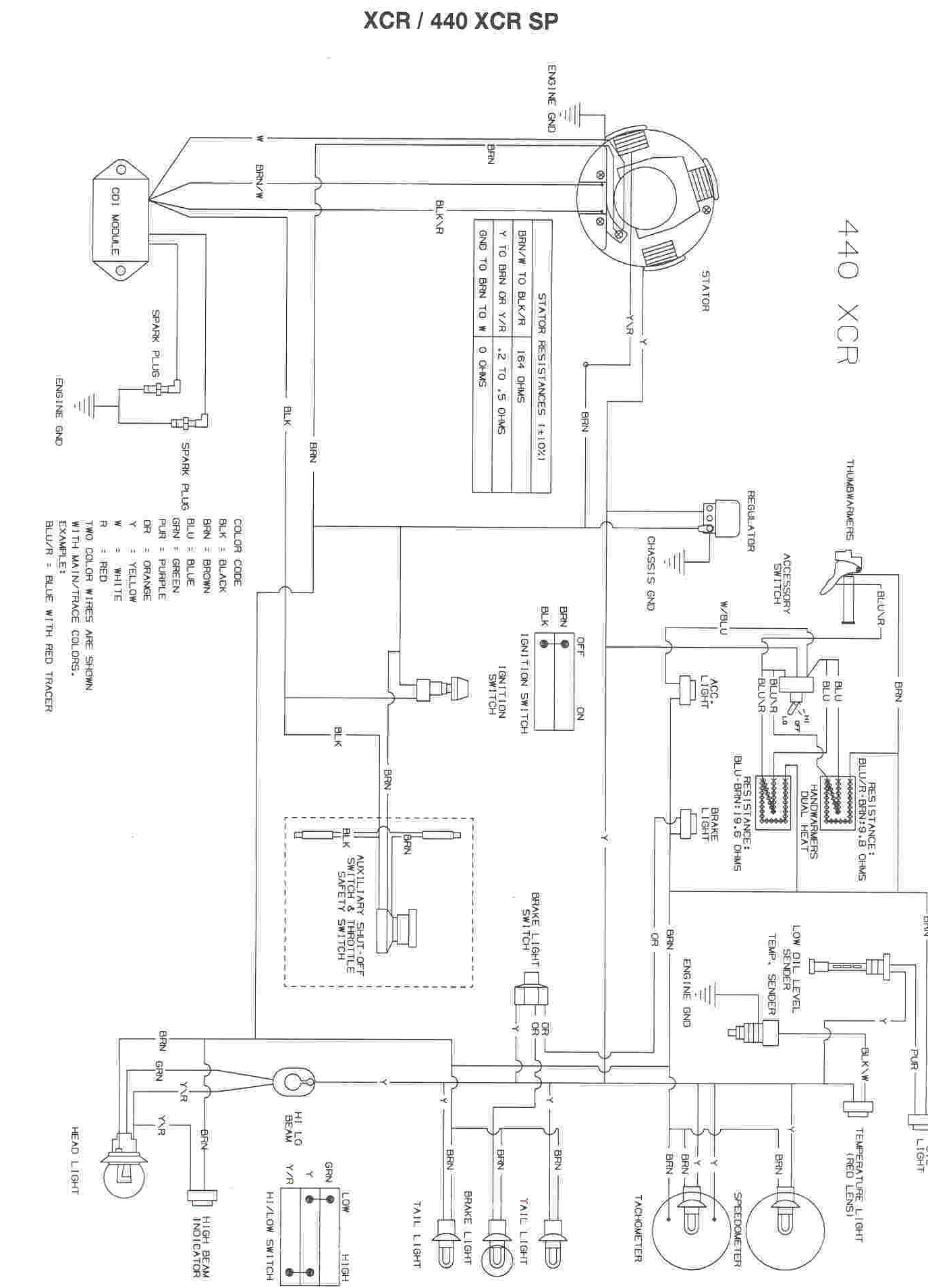 polaris five wire ignition switch wiring diagram   48