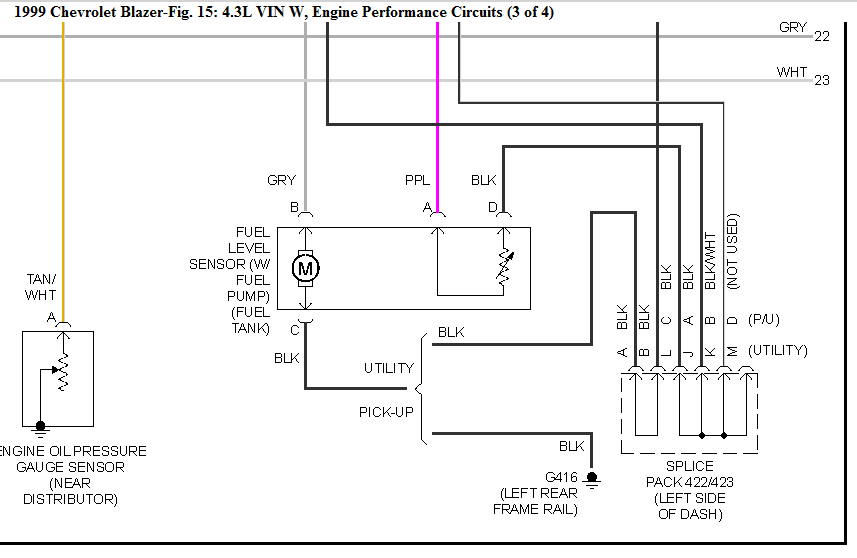 99 S10 Blazer Fuel Pump Wiring Diagram - Wiring Diagram