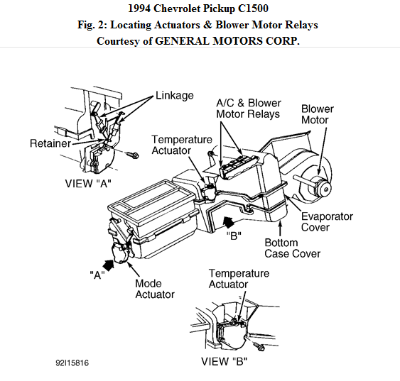 Where Is The Low Blower Relay Located On A 1994 Chevy Silverado. Chevrolet. 1994 Chevy 1500 4x4 Steering Diagram At Scoala.co