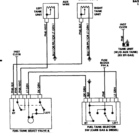 Wiring Diagram For Fuel Tank Selector Valve