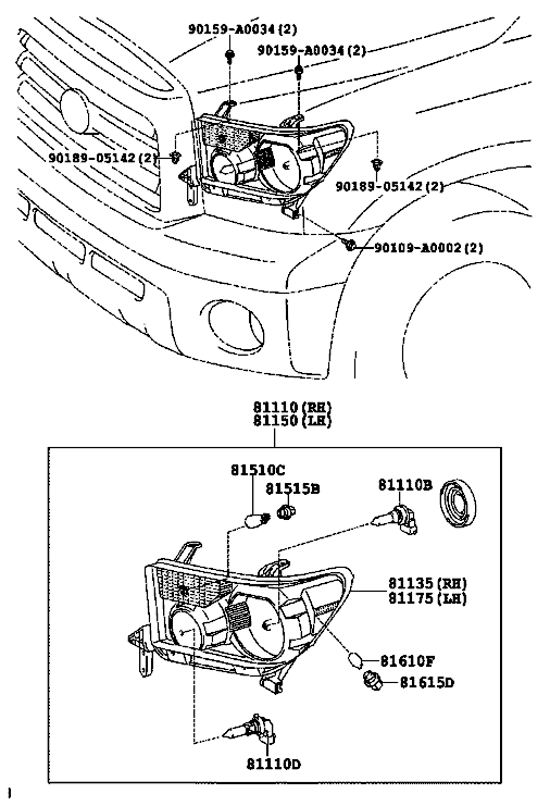 Toyota Tundra Headlight Diagram