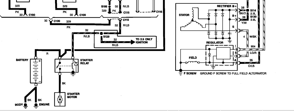 1989 ford taurus wiring diagram