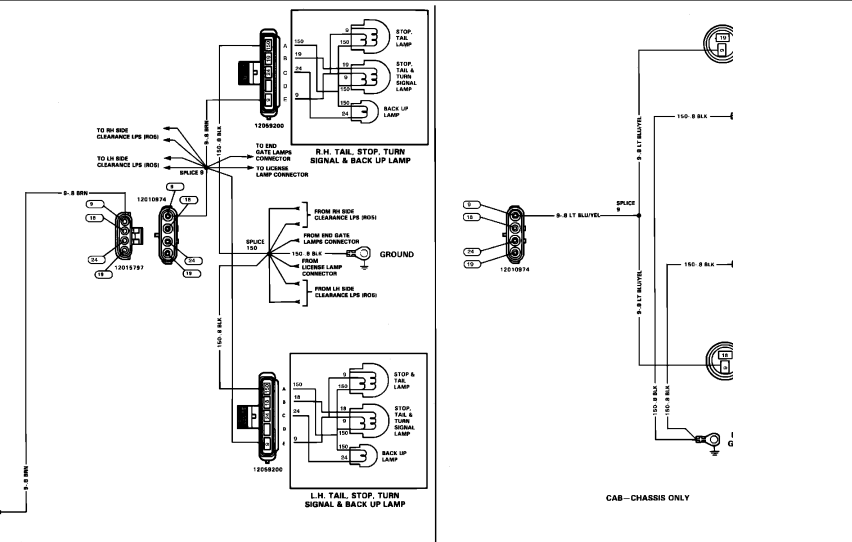 89 chevy silverado tail light wiring diagram  u2022 wiring