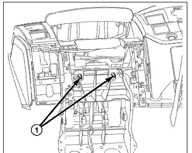 how do i remove the dash to get to the flapper value for the a c in 2015 Ram Headlight full size image