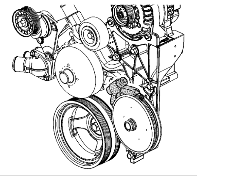 ac alternator serpentine belt diagram
