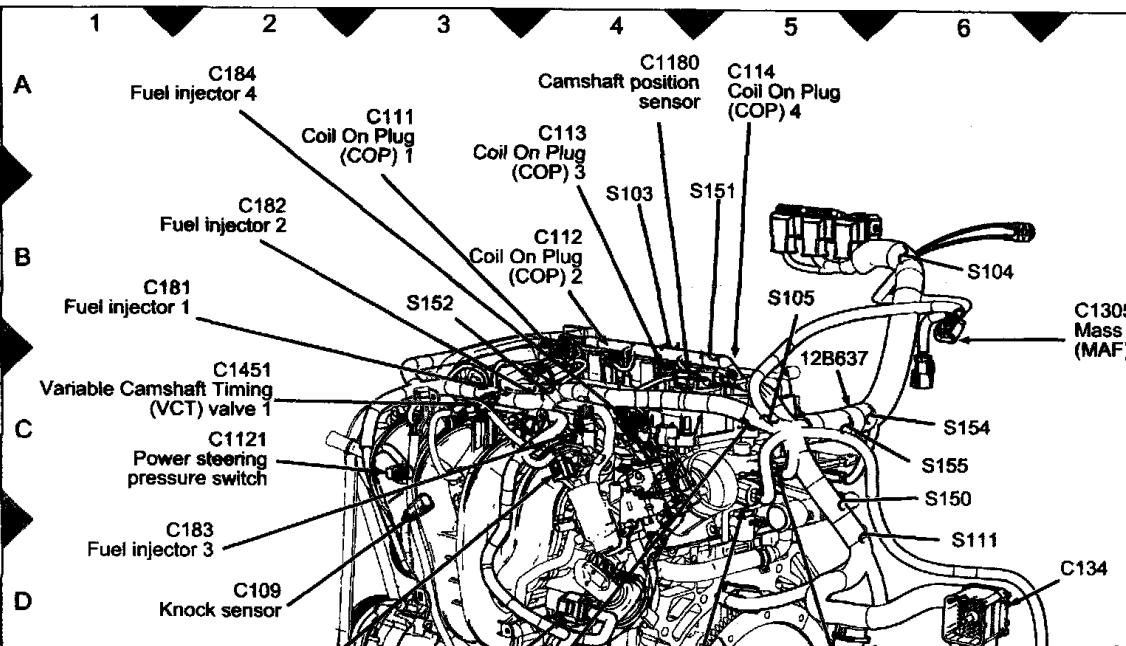 Ford Power Steering Pump Diagram on Ford Five Hundred Engine Mount