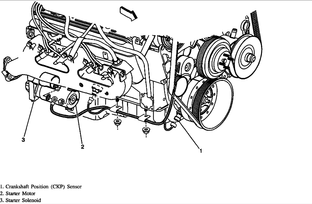 1998 chevy silverado crank position sensor location