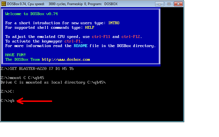 I want to run QBasic on my notebook ( Acer Aspire 5741G, Win7, 64