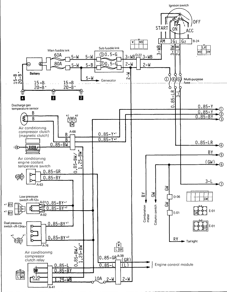 I Need A 1996 Mitsubishi Mighty Max Wiring Diagram That Includes The Air Conditioning Circuit
