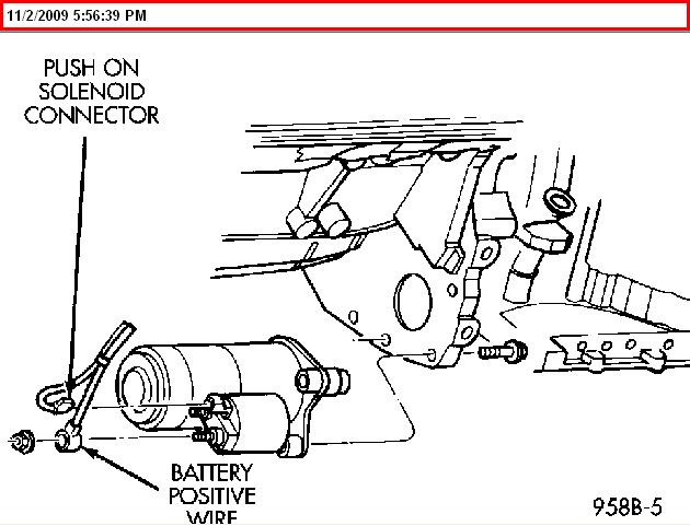 chrysler starter wiring