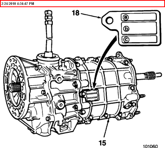 Is there a diagram for the bolts that need to be removed from the housing  for the manual transmission for a 1988 jeepJustAnswer