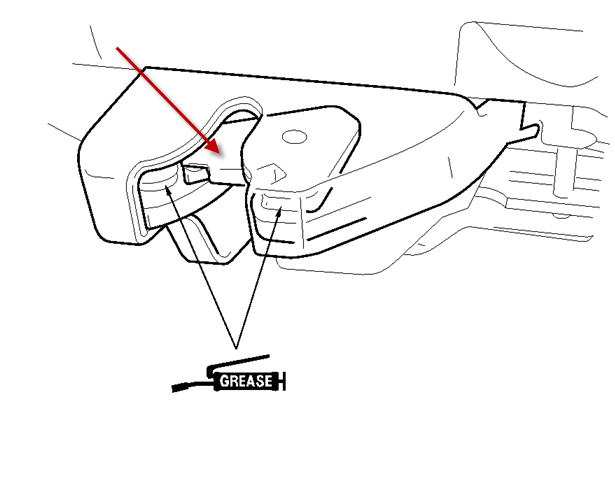 Take A Look At Your Latch See If The Looks Like This When Trunk Is Open Rotating Hook As Ilrated By Arrow Needs To Be Down