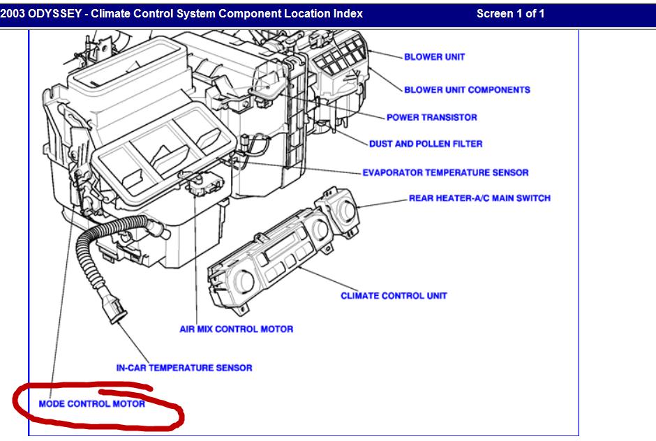 2011 honda civic air mode control motor