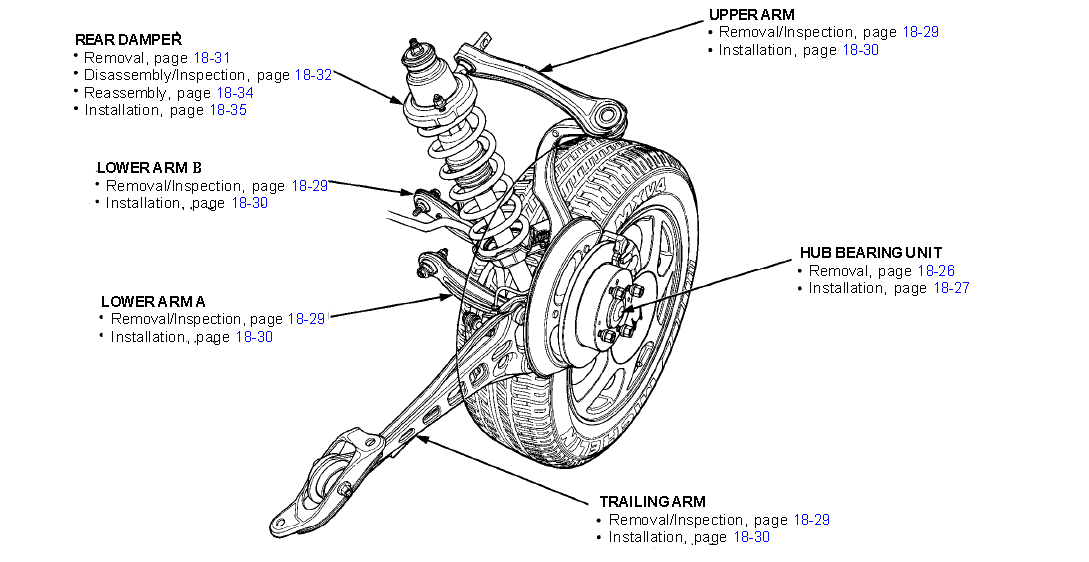 1994 honda civic suspension diagram  honda  auto parts