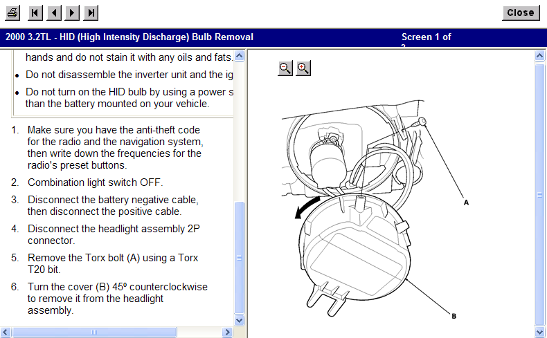 How Do You Replace The Headlight Bulb Located On A Acura Tl - Acura tl headlight replacement