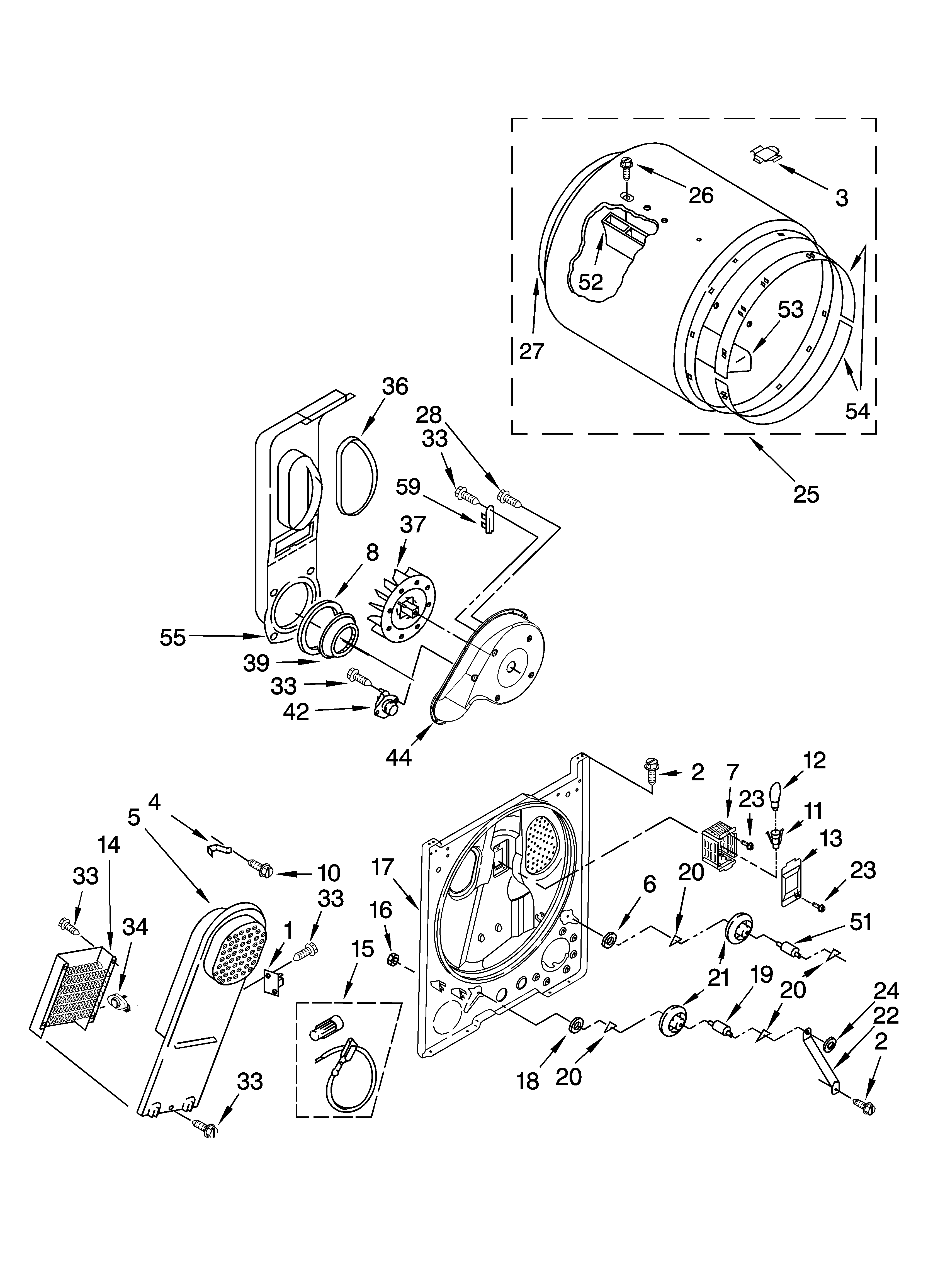 my kenmore dryer model  110 66642501 has stopped heating