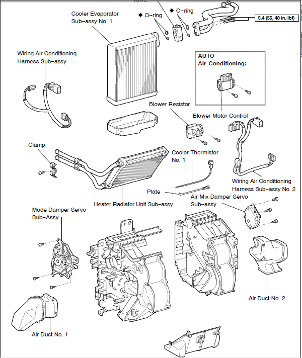 toyota sienna door parts diagram